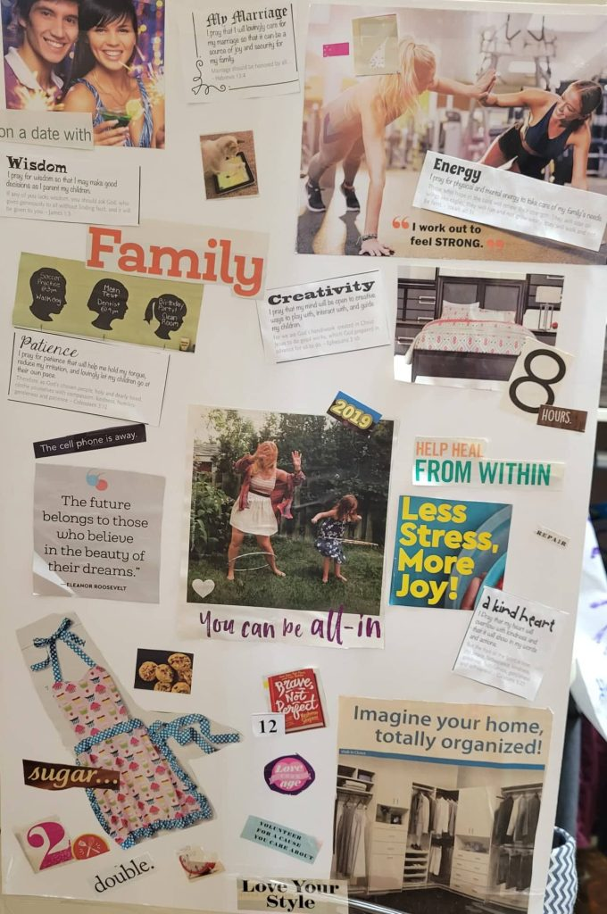 Homemade vision board poster